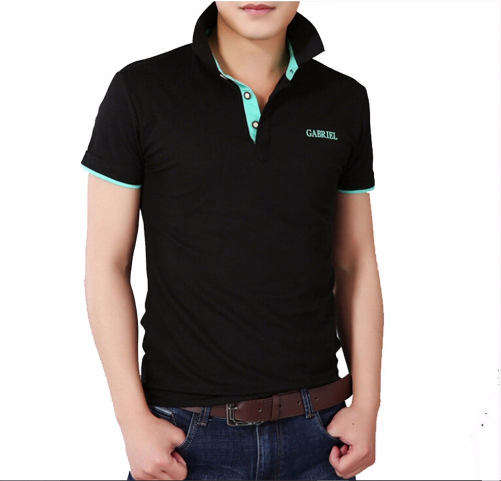 Men   Polo   shirt Classic short sleeve breathable