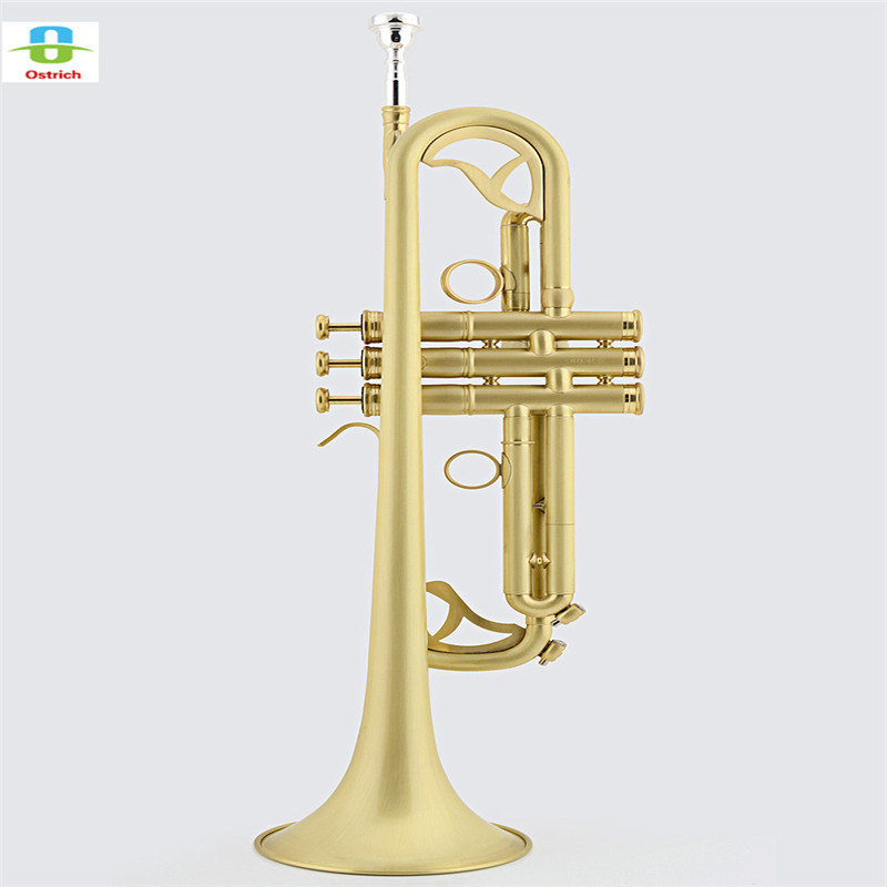 Professional Matt Brushed Bb Trumpet Horn Monel 2-Mouthpiece Leather Case 8x sliver copper alloy french horn mouthpiece for conn king french horn page 2