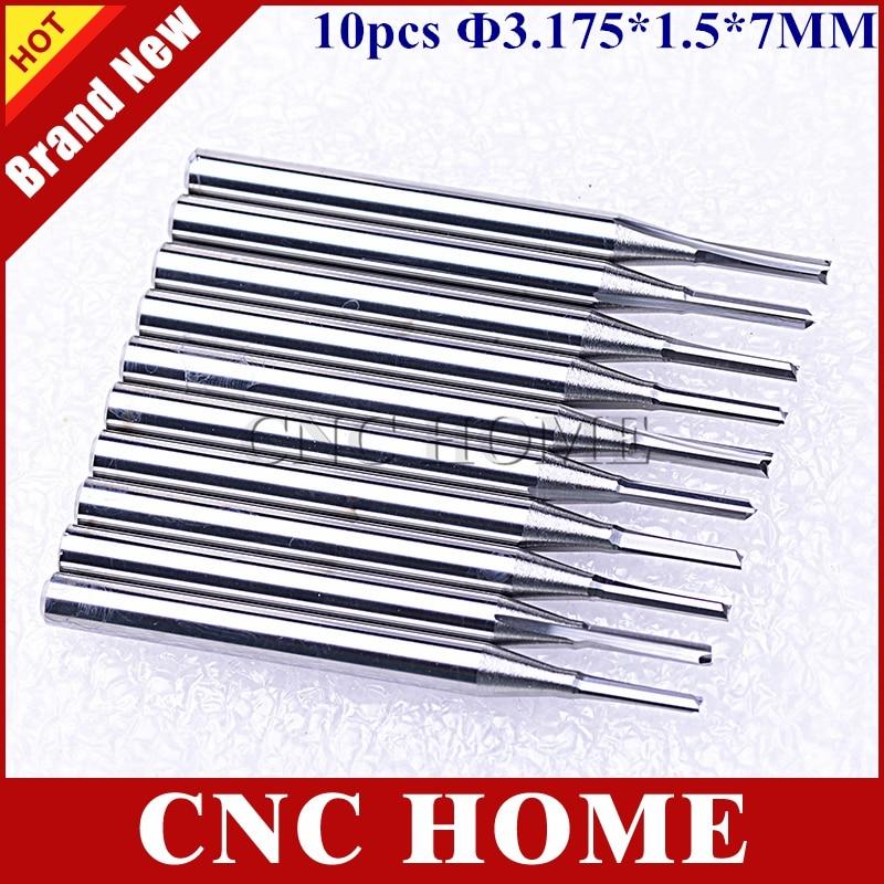 10pcs 3.175mm CED 2.5mm CEL 17mm Straight Slot Bit Wood Cutter CNC Solid Carbide