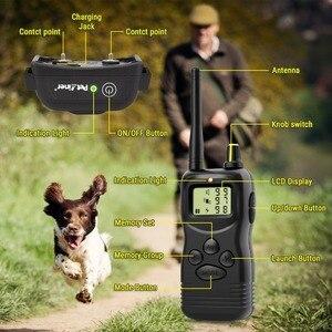 Image 5 - Petrainer 900B 1 vendita calda elettrico a distanza di controllo pet sistema del collare di addestramento del cane con display lcd 1000M