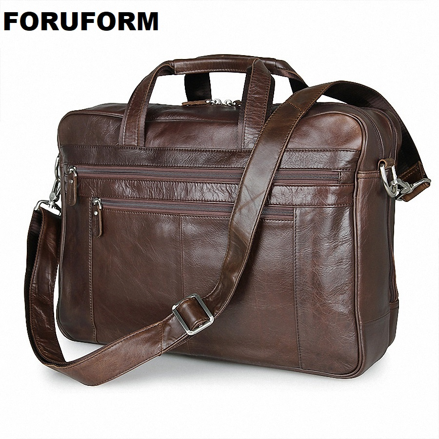 Genuine Leather Men Briefcase 17 Inch Business Laptop Tote Bag Cowhide Men s Messenger Bags Lawyer