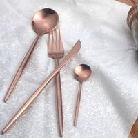 2/4 Pcs/세트 식기 스테인레스 스틸 포크 커터 커피 긴 핸들 서부 식품 식탁 홈 카페