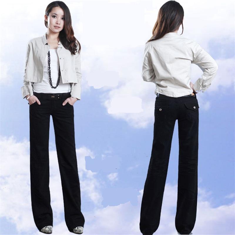 Mediados Las Black Cintura De Alta Pantalones La Señora Boot Cut Denim Ancha Calidad Mujeres Envío 2017 Jeans Negro Pierna Flares Hy6pcnW