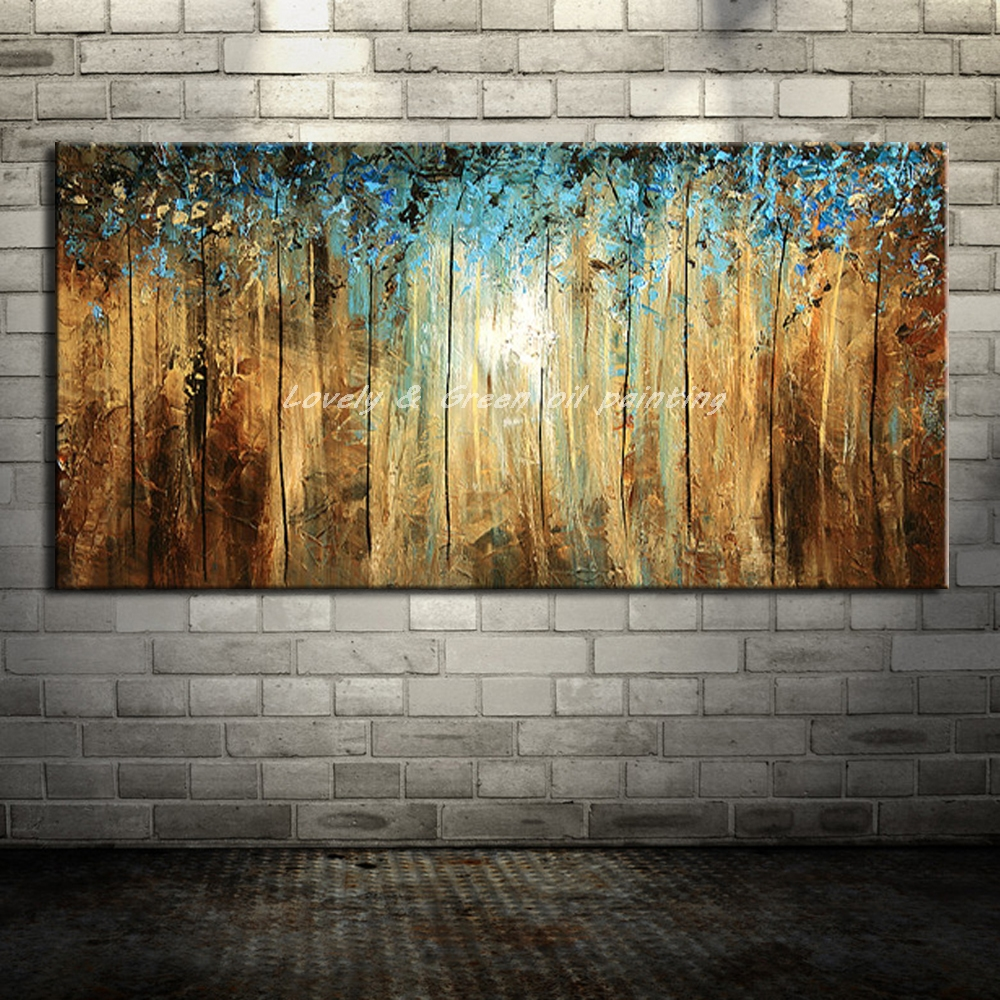 Hand Painted Canvas Oil Paintings Modern Abstract Tree Oil
