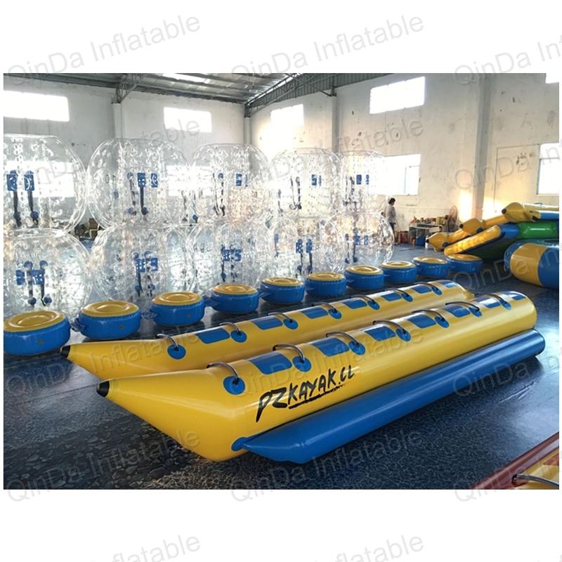 Amazing good price inflatable towable banana boat / 7+7 seats small fishing inflatable boat