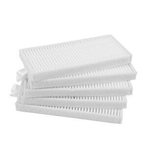 Image 4 - 10 * escova lateral + 5 * filtro HEPA + 5 * esponja + 5 * mop pano + 10 * pasta mágica Para a EXCELÊNCIA do CONGA Robotic Vacuum Cleaner Parts