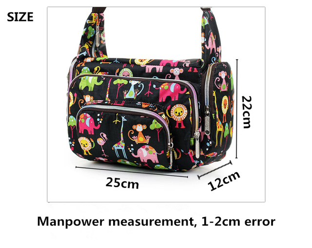 Women Messenger Bags Print Floral Cross Body Shoulder Canvas Hobo Bag Nylon Oxford Fabric Women's Handbag 1