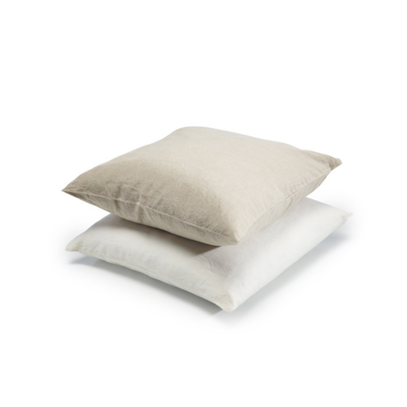 Terse zipper 100% Nature Linen Square Pillowcase solid Color French Linen Pillowcover For Free Shipping