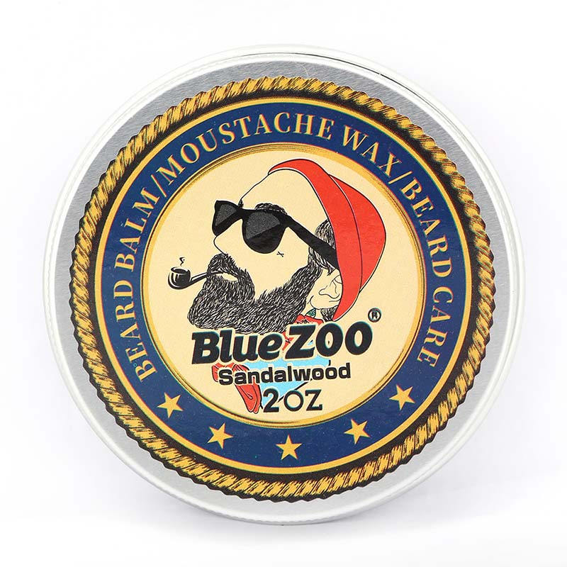 Blue ZOO Natural Beard Oil Balm Moustache Styling Beeswax Moisturizing Smoothing Gentlemen Beard Balm Organic Men Grooming Kit