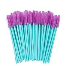 2019 New 500pcs Blue Handle Pink Brushes Top Quality Nylon Disposable Mascara Wands Lashes Makeup Eyelash Extension