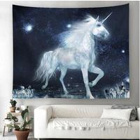 Unicorn tapestry for living room decorative throw rug blanket Camping tent travel wall hanging cloth home decor