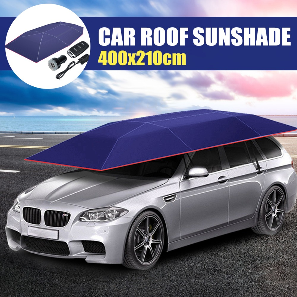 Full Automatic Car Roof Umbrella Shade Car Outdoor Covers Wireless