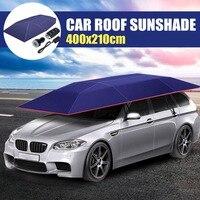 Portable Car Roof Umbrella Sunshade Insulation Cover Wireless Remote Control Outdoor Travel Roof Automatic Umbrella 400x210cm portable car roof cover