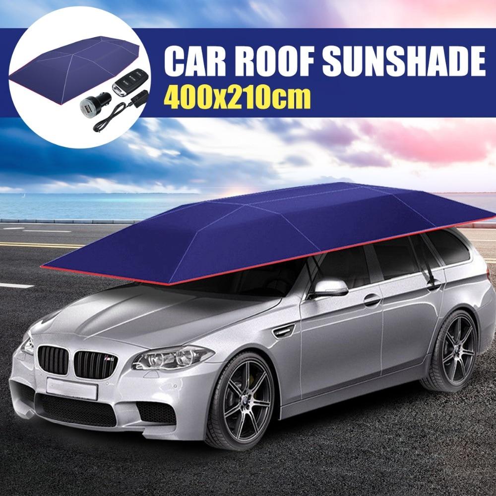 Toit de voiture entièrement automatique parapluie ombre de voiture couvertures extérieures sans fil à distance tente parapluie toit de voyage avec télécommande