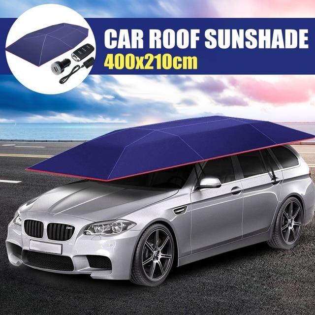 Volle Automatische Auto Dach Regenschirm Schatten Auto Im Freien  Abdeckungen Wireless Remote Zelt UmbrellaTravel Dach Mit