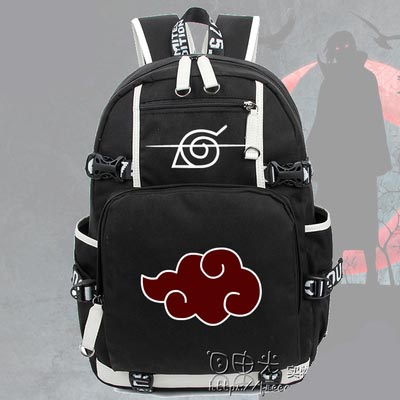 Hot Anime NARUTO Backpack Sharingan Luminous Canvas Bag Schoolbag Travel BagsHot Anime NARUTO Backpack Sharingan Luminous Canvas Bag Schoolbag Travel Bags