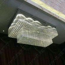 Т Большой Кристалл Лампы Для Инженерных Hall Hotel Гостиной Дома Столовая Моды Роскошь Свет