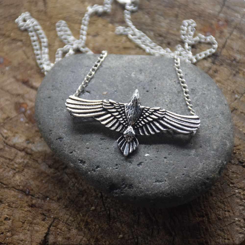Кельтский Ворон языческий Викинг норвежский животное птицы языческий Летающий ворона кулон ожерелье