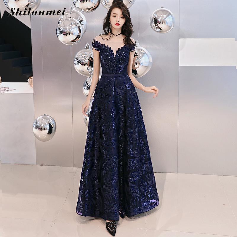 Élégante épaule dénudée taille haute longue Robe femmes Sexy étage-longueur Maxi Robe de soirée femme bleu dos nu Robe de soirée Xxl