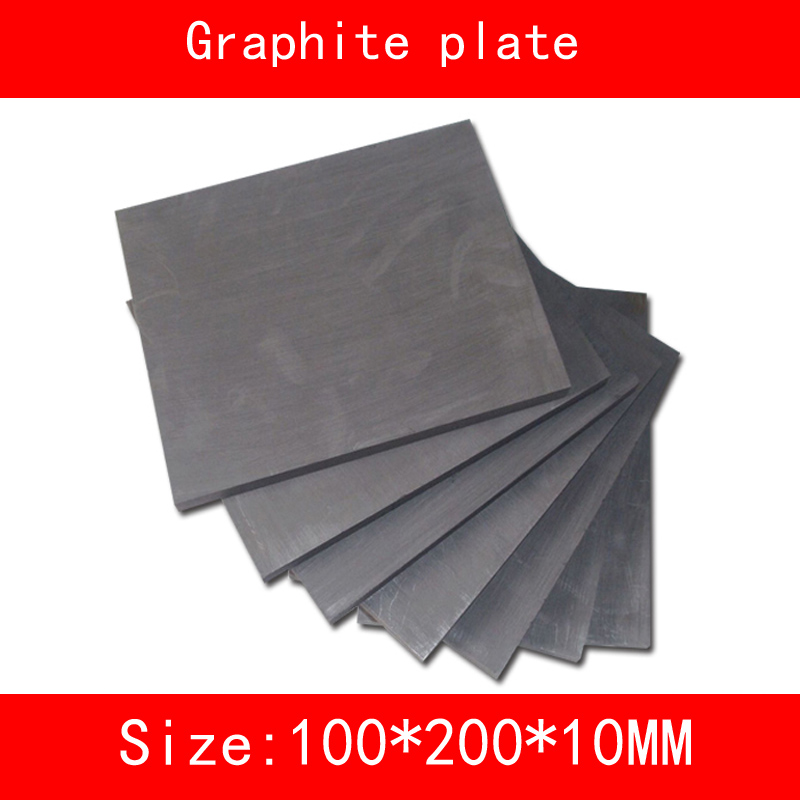 size:200mm*100mm*10mm 99.99% high Pure Graphite Electrode Rectangle block platesize:200mm*100mm*10mm 99.99% high Pure Graphite Electrode Rectangle block plate