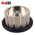 Raizi Z30 прямые Вакуумные Паяные гранитные мраморные алмазные ручные профильные колеса 5/8-11