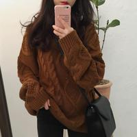 2018 Winter Fashion Wool Vintage o neck Women Pullovers Sweater Knitted Sweaters Lovely Sweater