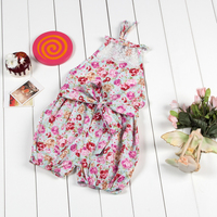 Baby Clothes For Newborn Summer Girls Printed Rompers Lace Jumpsuit Baby Girl Flower Causal Romper With