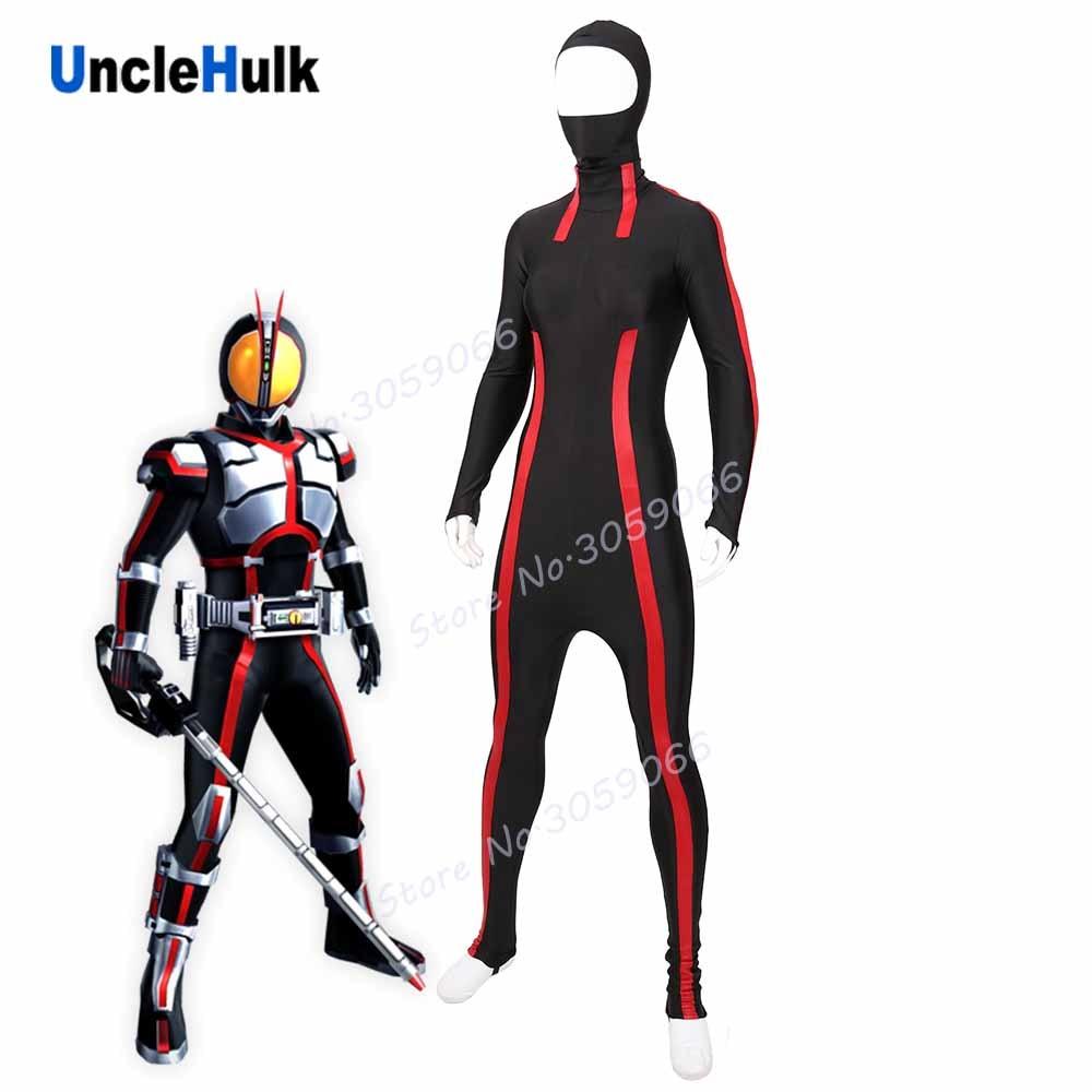 Masked Rider Faiz 555 Subcoat Cosplay Costume - lycra costume and rubberized fabric stripe | UncleHulk