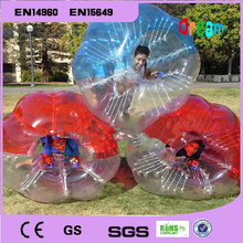 1.2m 0.8mm PVC outdoor soccer sports inflatable body bumper ball/bubble soccer zorb ball