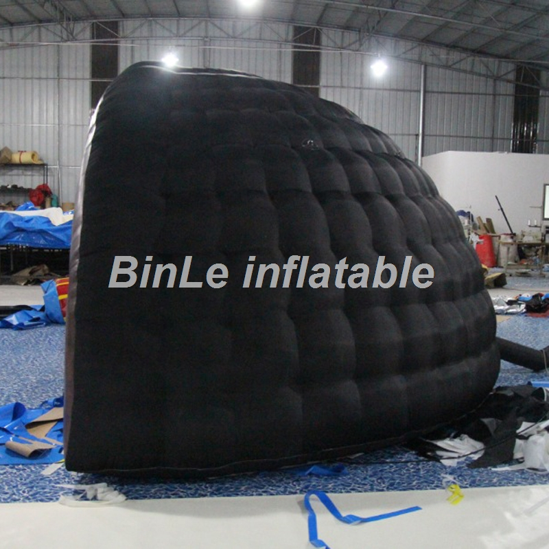 Купить с кэшбэком 16ft popular black half shell air igloo luna inflatable dome tent for outdoor events