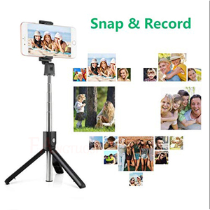 Image 5 - FANGTUOSI 3 in 1 Wireless bluetooth Selfie Stick Mini Tripod Extendable Monopod Universal Pau De Palo For iPhone XR X 7 6s Plus