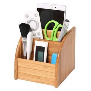 Image 2 - Porte stylo en bois bureau papeterie organisateur boîte de rangement pour fournitures de bureau