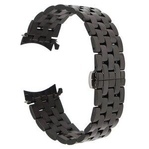 Image 2 - 18mm 20mm 22mm 24mm ze stali nierdzewnej Watch Band zakrzywiony pasek dla Frederique Constant pasek do zegarka motyl bransoleta