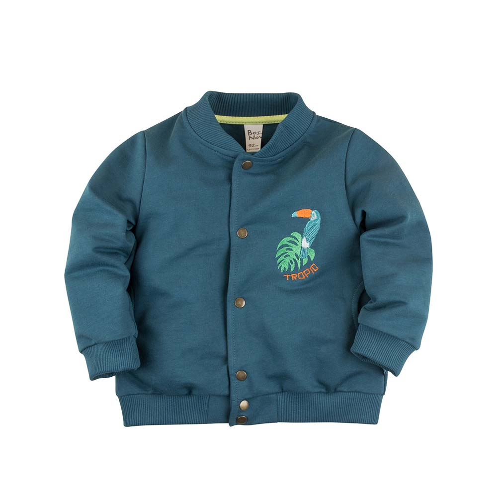 Hoodies & Sweatshirts BOSSA NOVA for boys 174b-461 Cardigan Kids Baby clothing Children clothes summer kids clothes suit for girls 3 13 years children army green cotton shirt clothing set boys girls clothing sport suit 174b