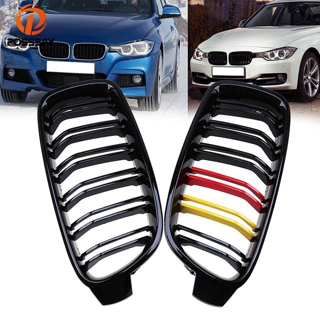 POSSBAY German Flap Racing Grilles For BMW 3 Series F30