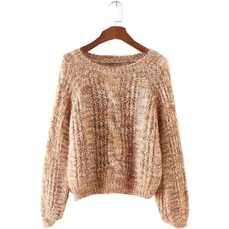 2017 새로운 여성 한국어 퍼프 슬리브 스웨터 여성의 느슨한 의류 가을, 겨울 스웨터와 풀 오버 Vestidos MMY16858