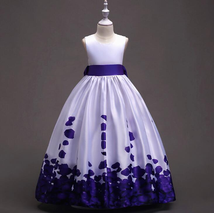 Girls Dress 2018 Summer Princess Dresses for Girls Clothes Party Ceremony Prom Dress Clothes teens 5-16T Gift teenagers clothing teens girls dresses summer 2017 new girls dress big girl blue prom wedding dress for kids party wear clothes