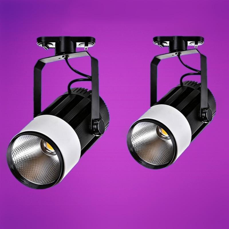 CREE COB LED TRACK Light LED Lamp Bulbs 30W 40W LED COB SpotLight Cool White|Warm White AC110V-AC240V By Express 100pcs/LOT low power consumption and high illumination e14 2w edison style cob led lamp bulbs light warm pure white 110 220v
