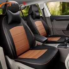 AutoDecorun индивидуальные обивки кресла для Jaguar XF аксессуары сиденья Искусственная кожа сиденья сиденье автомобиля подушки опоры протекторы