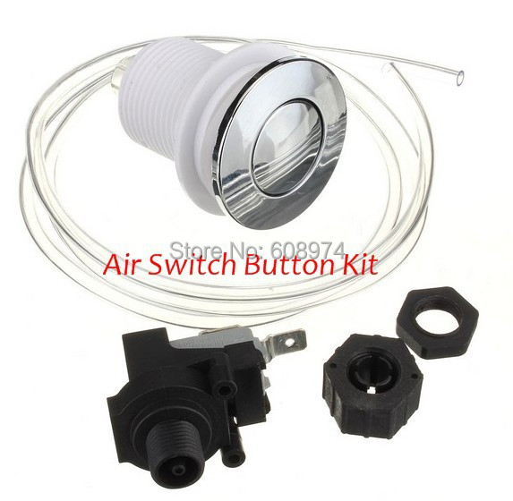 Spa & Pool, Pump food waste disposer Pneumatic Air Button Switch for bathtub, set with air button + hose + Air pressure switch цена