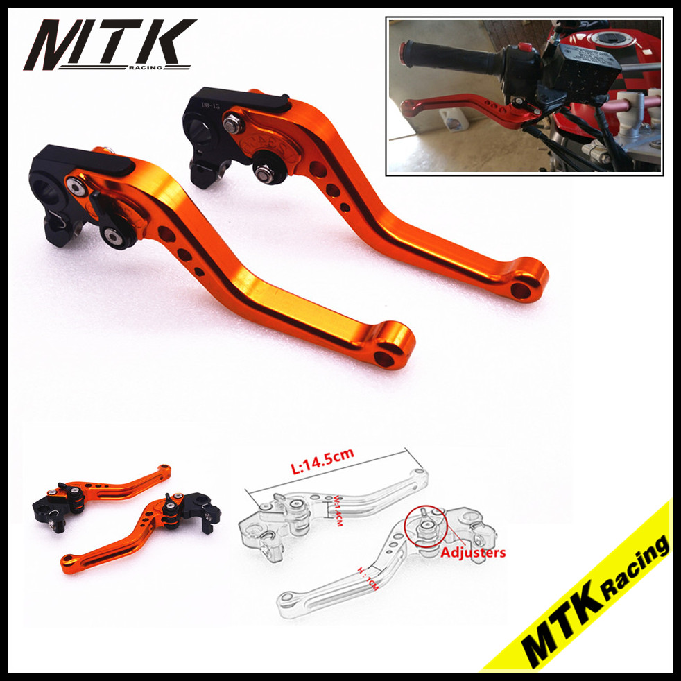 MTKRACING CNC Aluminum Brake Clutch Levers Short Adjustable for YAMAHA YZF R1 04-08 R6 05-16 R6S 2006-2007 Orange hot sale motorcycle accessories cnc aluminum short brake clutch levers black for yamaha yzf r6 yzf r6 2006 2014