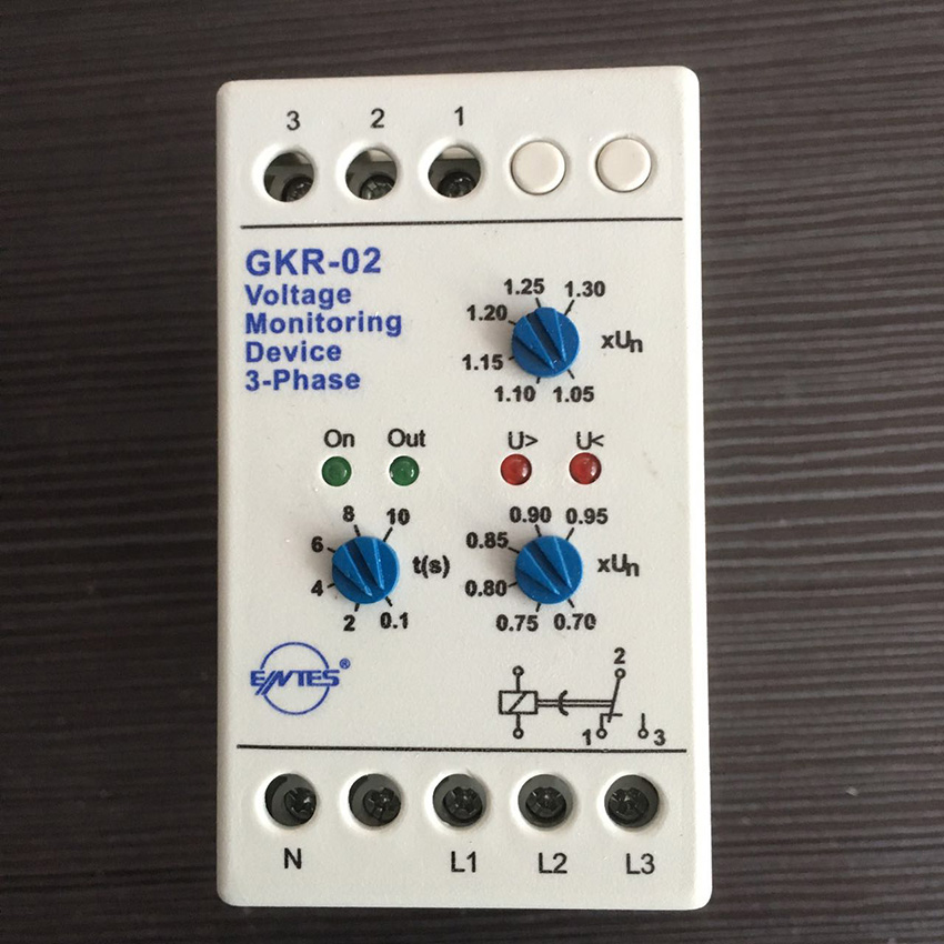 GKR-02 Voltage Monitoring Device Relay GKR-02 Phase Failure And Phase-sequence Protection Relay For Motor Protection cm100dy 12 module