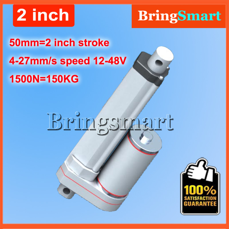 2Inch 50mm Stroke 12V DC Electric Linear Actuator 4-27mm/s 150KG Load 12-36V DC 1500N Heavy Duty Tubular Electric Motor 24V wholesale 12v linear actuator 150mm 6 inch stroke 7000n 700kg load waterproof 36v tubular motor 48v mini electric actuator 24v