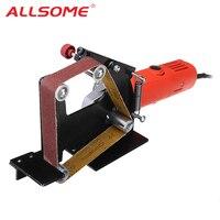 ALLSOME Angle Grinder Belt Sander Attachment Metal Wood Sanding Belt Adapter Use 100 Angle Grinder HT2376