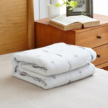 100% Cotton Six layers of gauze Towelling Coverlet/Blanket/Throw (Sailing) free shipping