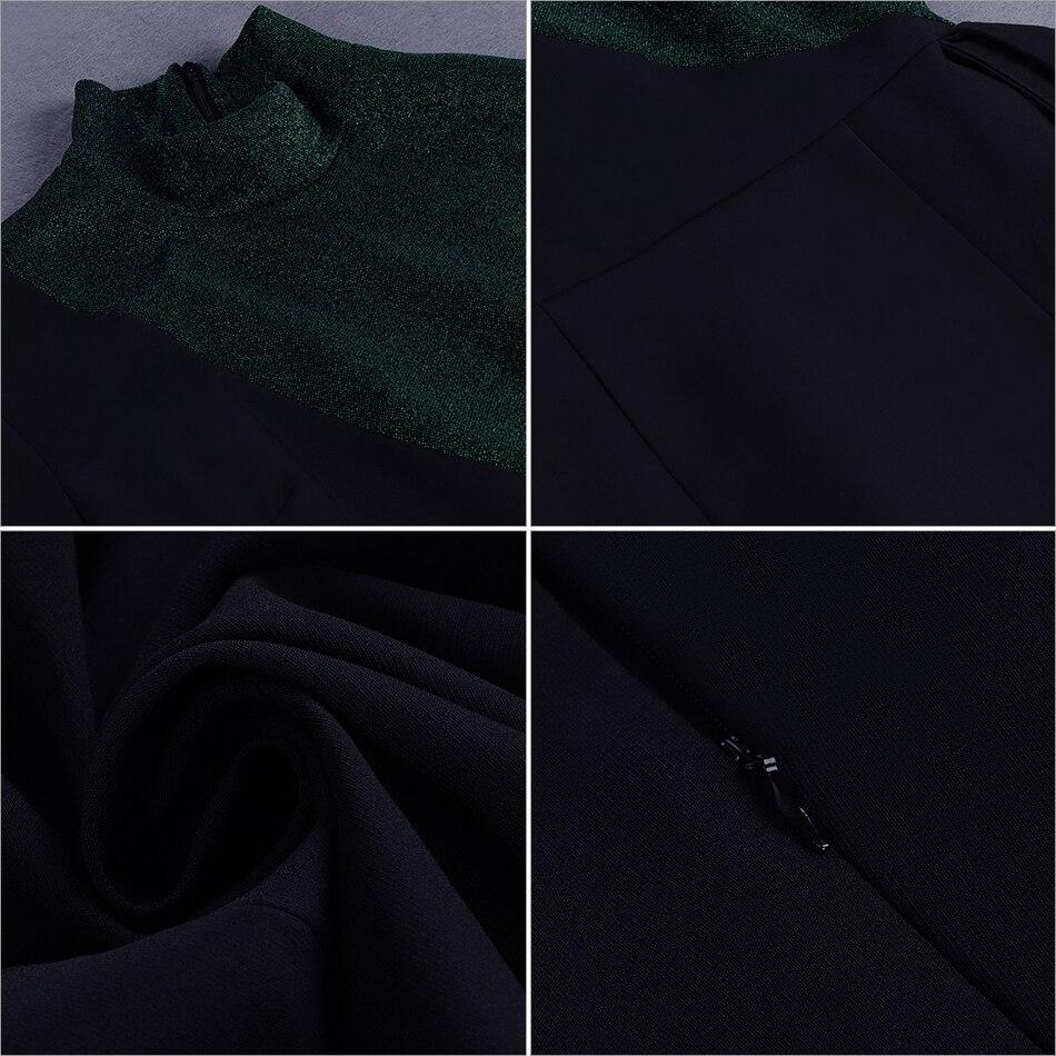 Robe D'été 2018 Moulante longue Nouvelles Noir Black Bandage Soirée Adyce De Femmes À Robes Mi Longues Clubwear Manches Célébrité mn80Nw