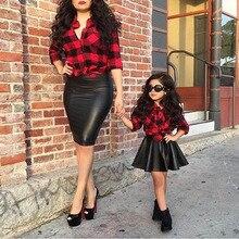 Mode Filles Vêtements Ensemble Rouge Chemise À Carreaux + Jupe Noire pour Enfants Filles Printemps Vêtements Set 2-6y Vêtements Costume Bébé enfants