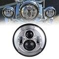 "7 ""40 W Ronda Daymaker LED Faros de Haz Sellado Para Harley Softail Street Glide FLHX FLD Jeep"