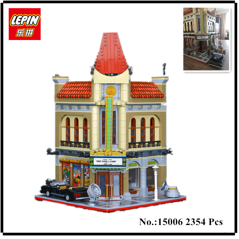 IN STOCK LEPIN 15006 2354pcs Palace Cinema Model Building Blocks Set Bricks Toys Compatible 10232 Toys For Children 2016 new lepin 15006 2354pcs creator palace cinema model building blocks set bricks toys compatible 10232 brickgift