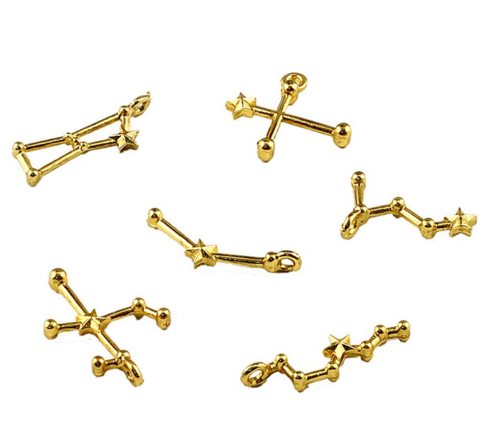 20 двенадцать созвездий для наполнителя эпоксидной смолы кулон Цепочки и ожерелья ювелирные изделия делая телефон <font><b>Case</b></font> Craft DIY Интимные аксессу&#8230;